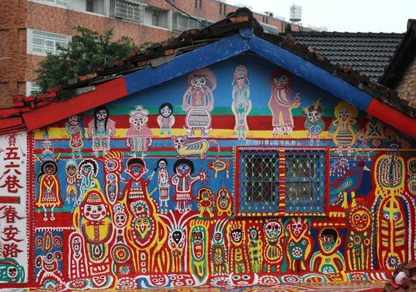 Tham quan ngôi làng cầu vồng ở Đài Loan