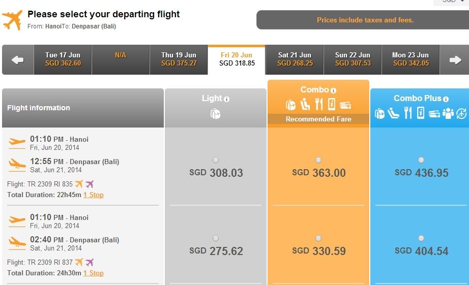 Vé máy bay Hà Nội đi Bali