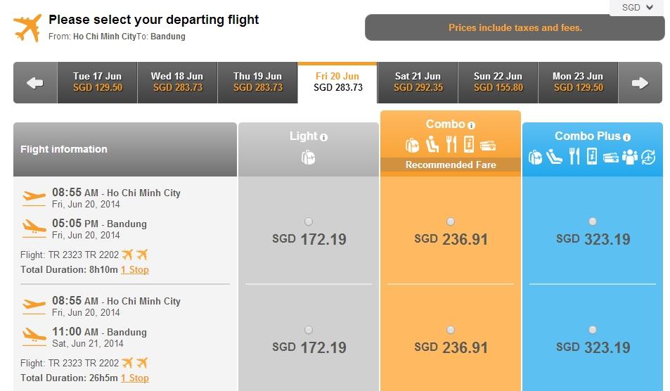 Vé máy bay Hà Nội đi Bandung