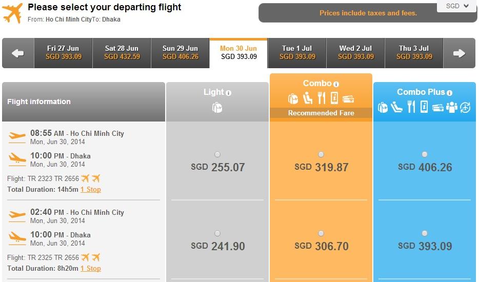 Vé máy bay Hồ Chí Minh đi Bangladesh giá rẻ