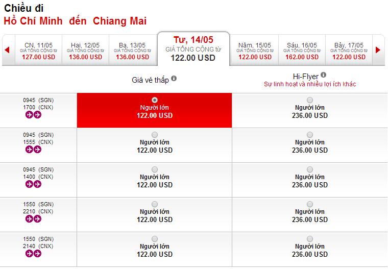 Vé máy bay giá rẻ đi Chiang Mai