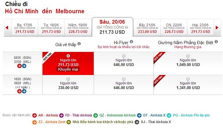 Vé máy bay đi Canberra giá rẻ