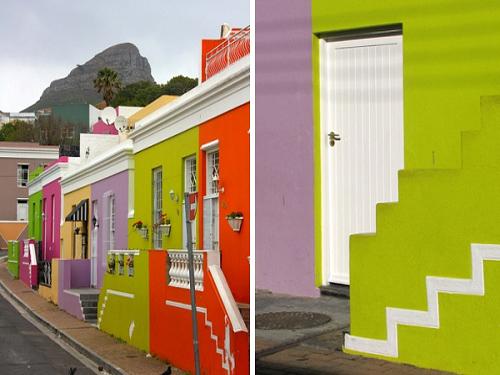 Vùng ngoại ô đầy màu sắc ở Nam Phi