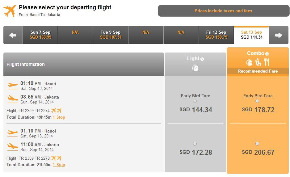 Vé máy bay Hà Nội đi Indonesia giá rẻ