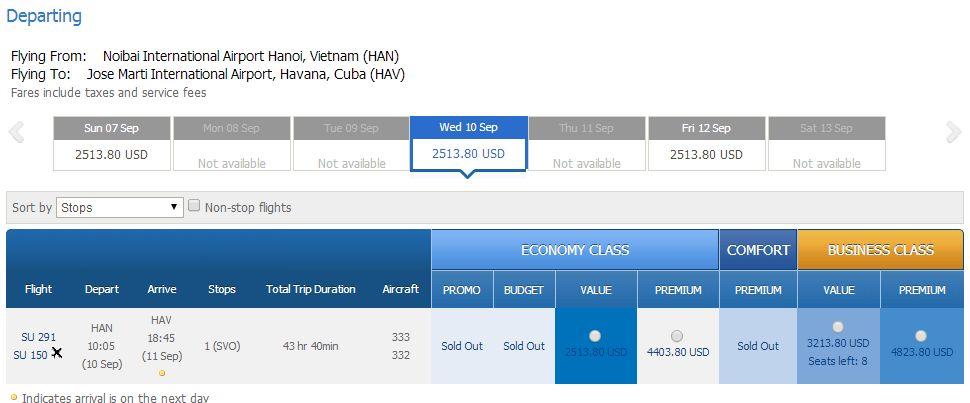 Mua vé máy bay đi Havana giá rẻ