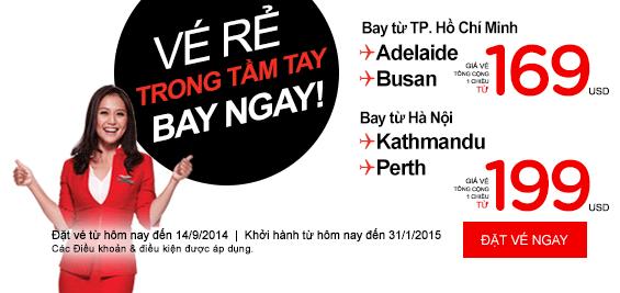 Bay vé rẻ cùng Air Asia