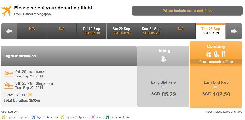 Vé máy bay đi Singapore siêu tiết kiệm