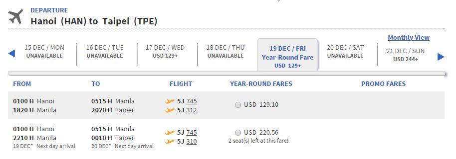 Vé máy bay đi Đài Loan bao nhiêu tiền