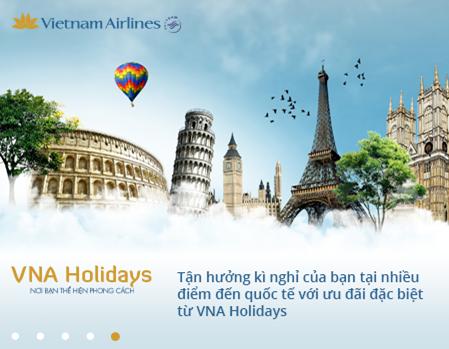 Ưu đãi trọn gói của Vietnam Airlines đi quốc tế