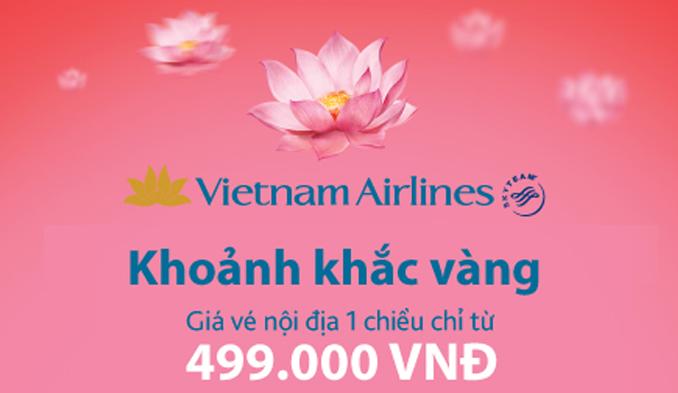 KHUYẾN MẠI KHOẢNH KHẮC VÀNG VIETNAM AIRLINES