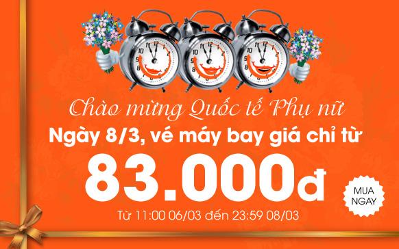 Tưng bừng Quốc tế Phụ nữ với giá vé chỉ từ 83.000 đồng
