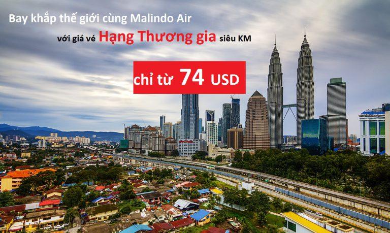 Du lịch thế giới đẳng cấp với giá vé hạng thương gia chỉ từ 74 USD của Malindo Air