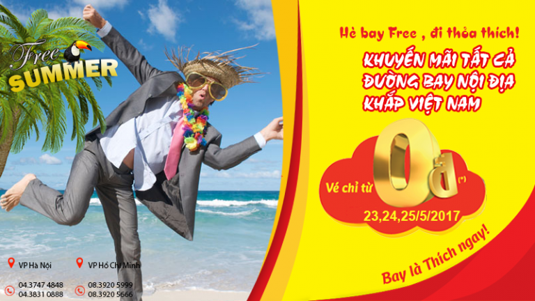 Giá vé chỉ từ 0 đồng – Du lịch Việt Nam siêu tiết kiệm cùng Vietjet Air
