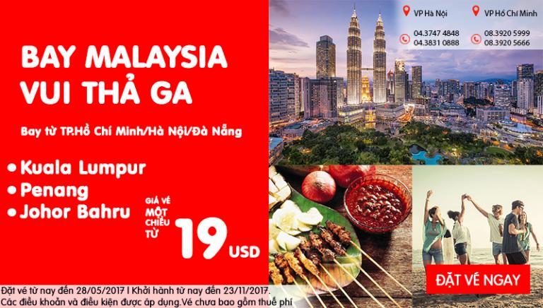 Chỉ từ 19 USD siêu KM – Khám phá Châu Á ngay cùng Air Asia