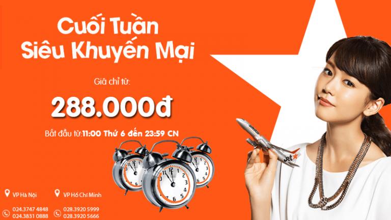 Bay vé rẻ từ 288.000Đ – Du lịch không thể tiết kiệm hơn cùng Jetstar