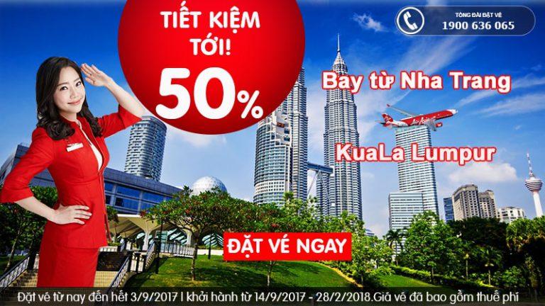 Giảm giá tới 50%, đến Kuala Lumpur vé ưu đãi chỉ từ 45 USD cùng Air Asia