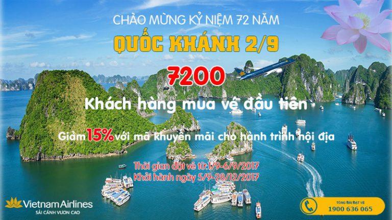 Vietnam Airlines tăng chuyến bay, ưu đãi giảm giá đến 15% dịp Quốc Khánh 2/9