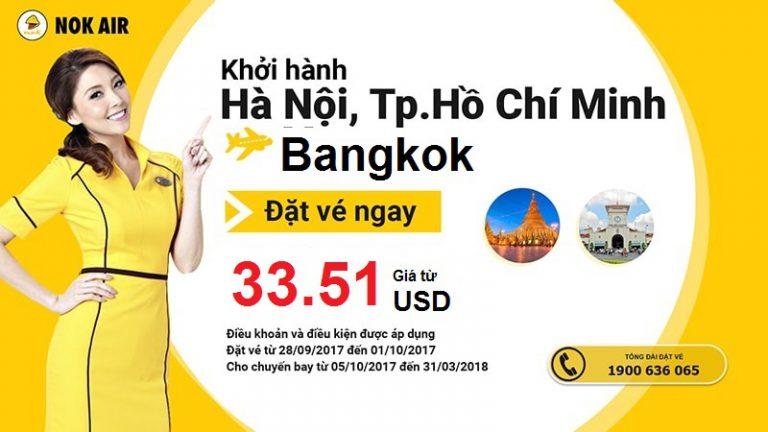 Vi vu Bangkok từ Việt Nam với vé Nok Air chỉ từ 34 USD