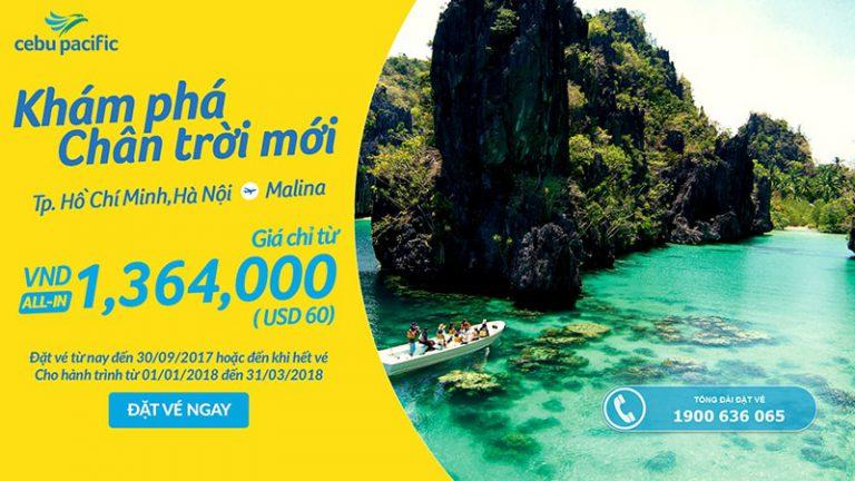 Đến Manila chơi từ Việt Nam, vé Cebu không thể ưu đãi hơn chỉ từ 60 USD