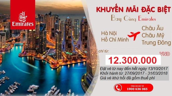 Hứng thú với những chuyến đi cùng Emirates giá vé khứ hồi chỉ từ 12.300.000 VND