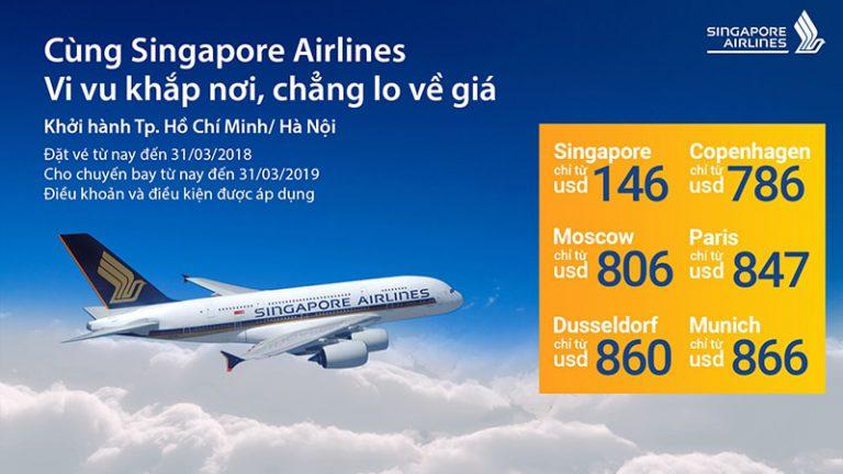 Chỉ từ 146 USD cùng Singapore Airlines du lịch Á – Âu