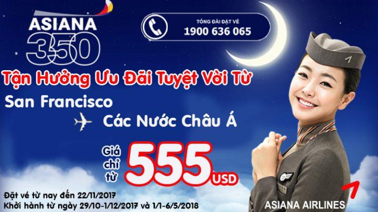 Bay châu Âu xa không lo về giá, vé Asiana Airlines khứ hồi chỉ từ 555 USD ưu đãi