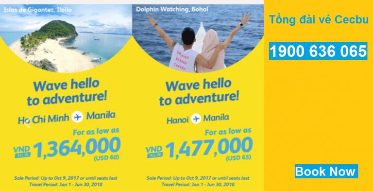 Cebu Pacific mở bán vé đến Manila từ Việt Nam giá ưu đãi chỉ từ 60 USD/chiều