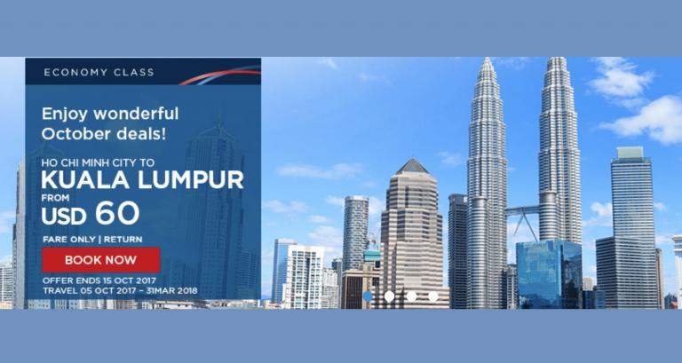 Trải nghiệm bay từ TP. HCM cùng Malaysia Airlines vé khứ hồi chỉ từ 60 USD ưu đãi