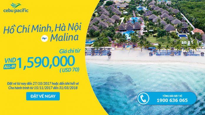 Cebu Pacific KM vé đi Manila chỉ từ 70 USD