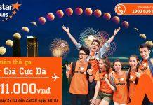 KM vé Tết của Jetstar VN giá chi từ 11k