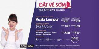 KM vé rẻ đi châu Á chỉ từ 38 USD