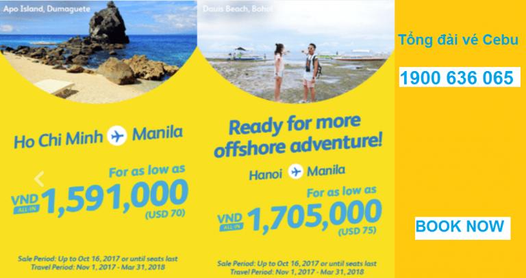Vé Cebu từ 70 USD – Cuối năm đến Manila vui quên đường về