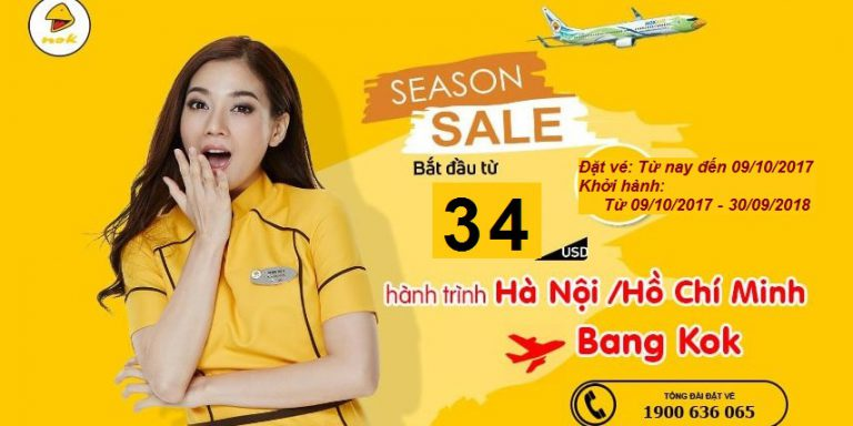 Trải nghiệm bay cùng Nok Air, vé từ 34 USD/chiều – Vui bất tận ở Bangkok