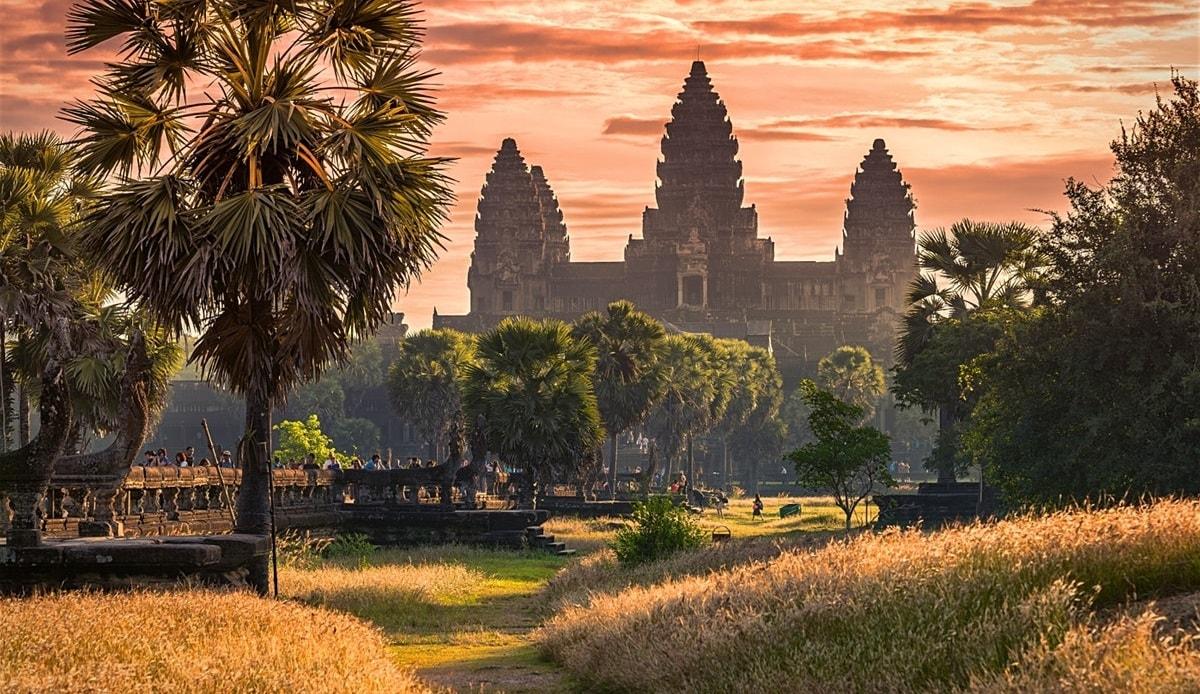 Cảnh hoàng hôn ở Siem Rep tuyệt đẹp
