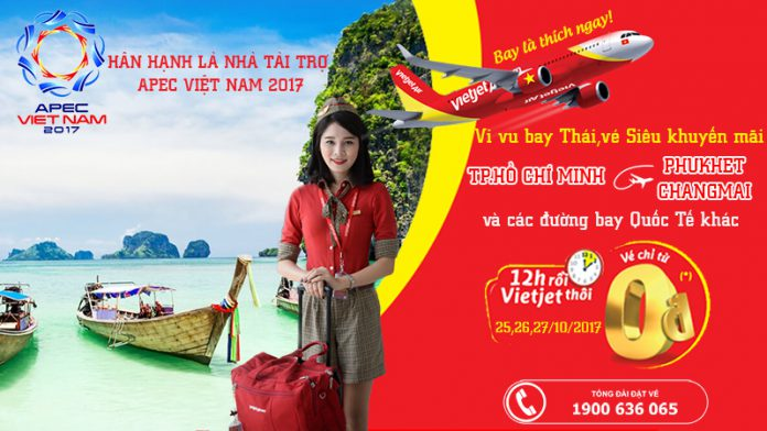 180.000 vé Vietjet 0 đồng bay Thái Lan và quốc tế siêu rẻ