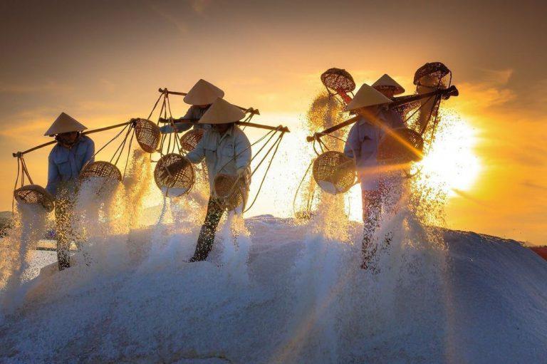 Đến miền Trung khám phá các cánh đồng muối nổi tiếng